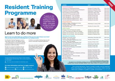 A programme of free local courses for Gateway residents