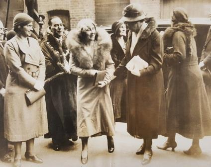 The Queen Mother visits St Hubert's House in 1935