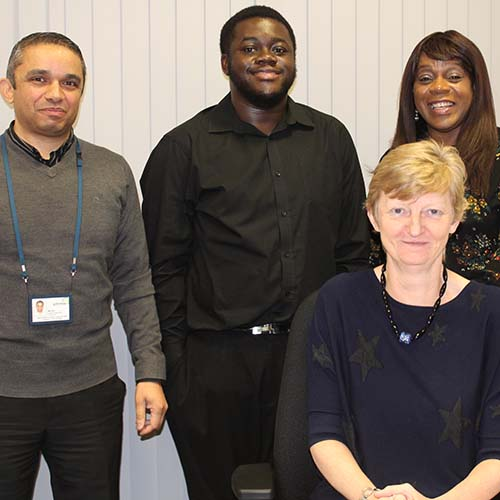 Joseph Atuahene (centre) has been impressing everyone at Gateway with his strong work ethic and commitment to helping residents!
