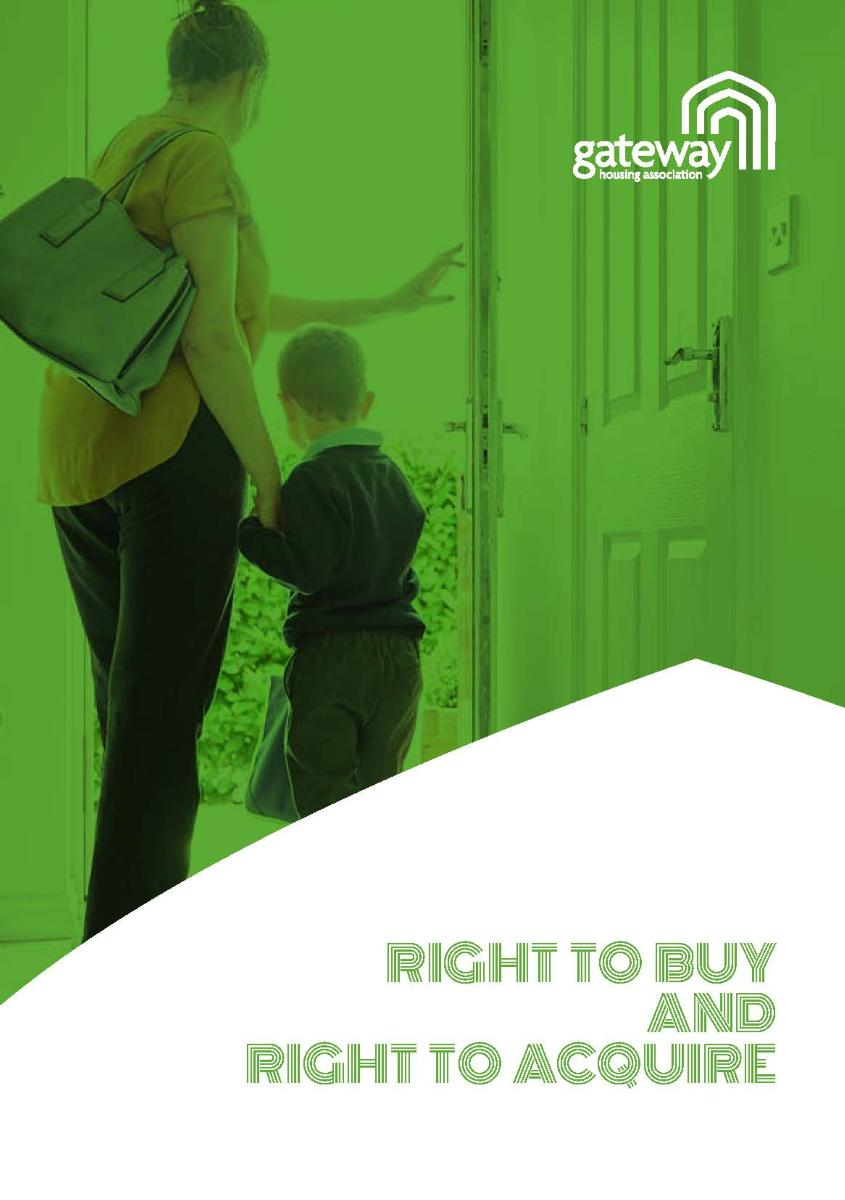 Right to Buy and Right to Acquire information from Gateway Housing Association